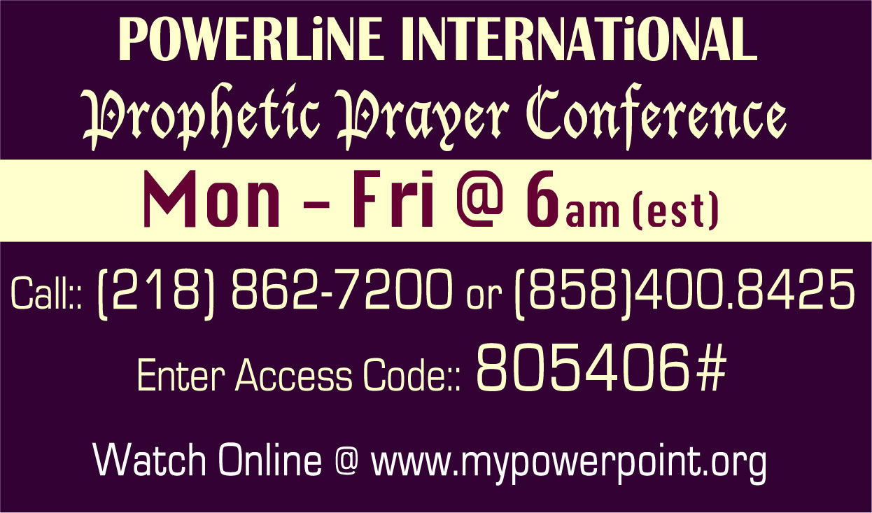 PowerPoint Prophetic Prayer Conference